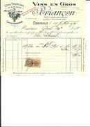 Ref 38/ 38, Grenoble, Briançon, Vins, 1926,  Pour Capitaine - France