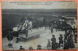 CARTE CAVALCADE CHAUSSIN AU PROFIT DE L' AVIATION 1912 - 39 - CHAR DE LA LYRE CHAUSSINOISE - SCAN RECTO/VERSO -9 - Francia