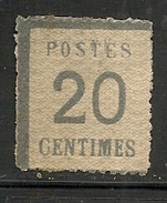 FRANCE - 1870 ALSACE-LORRAINE - Yvert # 20a - MINT H - Alsace-Lorraine