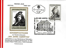 AUTRICHE  FDC 1969  Tableaux  Rembrandt