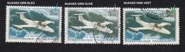 Poste Aérienne N° 39,Nuages Gris Bleu, Gris Olive Et Gris Vert, P A,Variété Variétés - Varieteiten: 1960-69 Afgestempeld