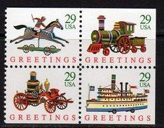 USA 1992 Christmas Toys Booklet Stamps Block Of 4, MNH (SG 2762/5) - Etats-Unis