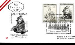 AUTRICHE  FDC 1969  Tableaux  Rembrandt  Vierge Raphael