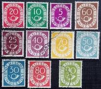 Allemagne Fédérale Y&T 11-14-16-17-18-19-20-21-22-23-24 . Oblitérés 11 Valeurs - [7] Federal Republic