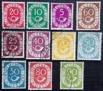 Allemagne Fédérale Y&T 11-14-16-17-18-19-20-21-22-23-24 . Oblitérés 11 Valeurs - Used Stamps