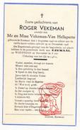 DP Kind Engelendicht Roger Vekeman / Van Helleputte ° Ezemaal Landen 1948 - Images Religieuses