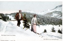 Ski-Sport Dans Les Alpes / Ski-Sport Im Hochgebirge  Suisse - Wintersport