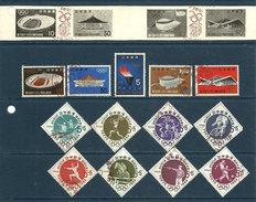 Japon - Sport : JO De 1964 - Gravure Et 13 TP - Oblitération JO - Summer 1964: Tokyo