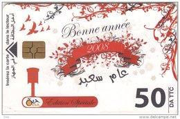 Algérie Télécarte Oria Bonne Année 2008 - Calendrier De 2008