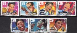 USA 1993 Rock & R&B Music Sheet Stamp Set Of 7, MNH (SG 2823/9) - United States