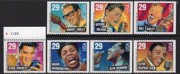USA 1993 Rock & R&B Music Booklet Stamp Set Of 7, MNH (SG 2830/6) - United States