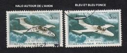 Poste Aérienne N° 39,HALO AUTOUR DE L'AVION Et 1 BLEU, P A,Variété Variétés - Plaatfouten En Curiosa