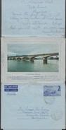 Maurice 1974. Aérogramme De Rivière Du Poste à Jakarta. Cavendish Bridge. Pont - Ponts