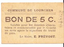 BON De  5c Commune De LOURCHES 14-18 - Bons & Nécessité