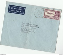 1946 Air Mail INDIA COVER 14a AIRCRAFT Airmail  Stamps  Bombay To Birmingham GB Aviation - India (...-1947)