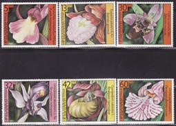 BULGARIA 1986 ORCHIDS, FLOWERS Mi 3441-3446  MNH**