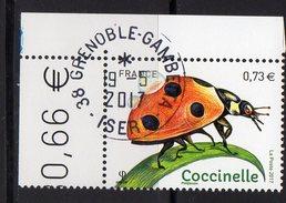 France 2017.Insecte.Coccinelle.Cachet Rond Gomme D'origine. - France