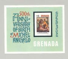Grenada 1975 Michelangelo, Art, 1v Imperf Essay, Unissued Design Of S/s - Grenada (1974-...)