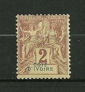 Côte D' Ivoire  1898/1899    N° 2  Colonie Francaise       Neuf  Avec Trace De Charnière - Unused Stamps