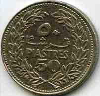 Liban Lebanon 50 Piastres 1969 KM 28.1 - Liban
