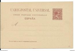 SPAIN_1890. ALFONSO XIII. Tipo Pelon. UNION POSTAL UNIVERSAL. #29 LAIZ. TARJETA SIN USAR