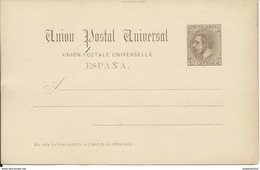 SPAIN_1884. ALFONSO XII. Union Postal Universal. #16 LAIZ. TARJETA SIN CIRCULAR