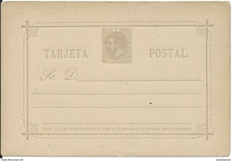 SPAIN_1882. ALFONSO XII. Correos Y Telégrafos. #10 LAIZ. TARJETA SIN USAR