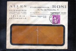 Lettre Publicitaire - Accéssoires Automobile - Ailes - Rosi - Marcophilie (Lettres)