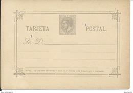 SPAIN_1882. ALFONSO XII. Correos Y Telégrafos. #11r LAIZ. TARJETA SIN USAR