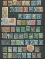 Lot 67 Timbres Periode Classique Oblitéré + 2 Fragments  Tout Etat , Bordeaux  Lauré , Céres , Groupe Et Divers - Bce53