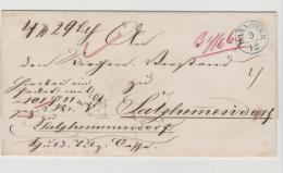Han079 / Paketbegleitbrief Mit Wachssiegel Der Zinsenzahlkasse Hannover Nach Salzhermasdorf  1825