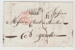 FP183 / FRANKREICH -  Albert Ville 1840 über Sardinidches Gebiet Nach Grenobel - Poststempel (Briefe)