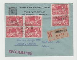 Oy090 /  SELTENE Reine Mehrfachfrankatur Zur Olympiade 1924 Auf Einschreiben Nach Luzern, Schweiz