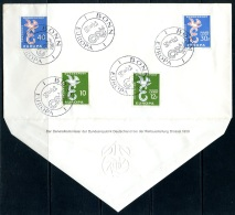 BE  Marcophilie  --  Obl. Mécanique / Machine   --  EXPO 58  -  Timbres Europa 1958  --   Allemagne + Sarre  --  Rare...