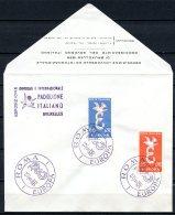 BE  Marcophilie  --  Obl. Mécanique / Machine   --  EXPO 58   Et  Timbres Europa 1958  --   Italie  --  Rare...
