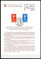 BE  Marcophilie  --  Obl. Mécanique / Machine   --  EXPO 58   Et  Timbres Europa 1958  --   Italie  --   Feuillet