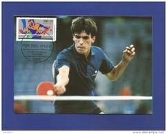 BRD 1989  Mi.Nr. 1408 , Tischtennis - Maximum Card - Erstausgabe 09.02.1989 -