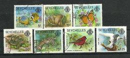 Seychelles 1977 - Faune Et Flore Terrestres Et Marines - 7 TP - Oblitéré