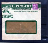 Lettre Publicitaire - Accessoires Gergovia - Ets. Pingeot - Marcophilie (Lettres)