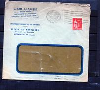 Lettre Publicitaire - L'Air Liquide - Agence De Montlucon - Marcophilie (Lettres)