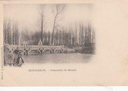 Cp , 91 , MONTGERON , Passerelle Du Moulin - Montgeron