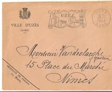 Uzès:Flamme 1956 - Postmark Collection (Covers)