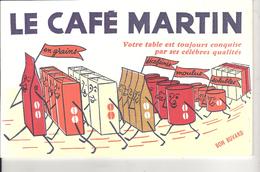 SUPERBE   BUVARD     CAFE  MARTIN - Alimentaire