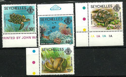 Seychelles 1977-1982 - Faune Et Flore Terrestres Et Marines - 4 TP - Neuf**