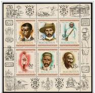 Maurizio/Maurice: Foglietto, Block, Bloc, Mahatma Gandhi