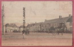36 - EGUZON--La Place--attelage--animé - Frankreich