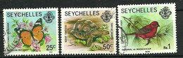 Seychelles 1979-1991 - Faune Et Flore Terrestres Et Marines - 3 TP - Oblitéré