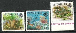 Seychelles 1977-1982 - Faune Et Flore Terrestres Et Marines - 3 TP - Neuf**