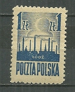 POLAND MNH ** 440 Libération De Lodz - 1944-.... Repubblica