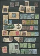 Lot De 47 Timbres Au Types Sage Sur Fragment Ou Détaches - Bce57